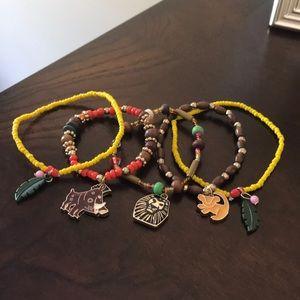 Lion King CHILD SIZE,  5 piece bracelet set